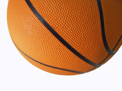Highly detailed basketball isolated from background