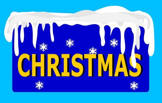 Christmas Logo blue