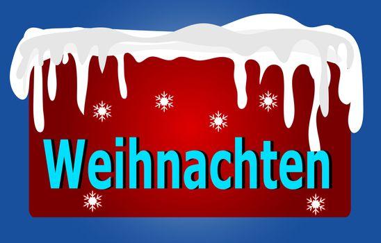 Red German Christmas Logo