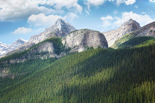 View of the Rocky Mountains in Alberta