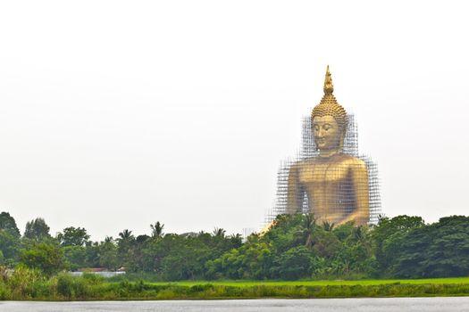 reconstruction of gold buddha
