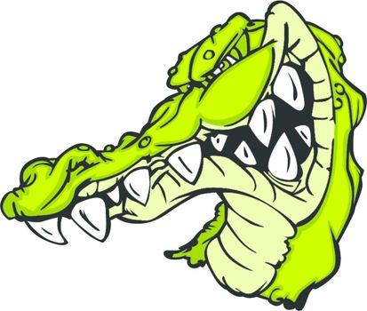 Gator or Alligator Mascot Cartoon