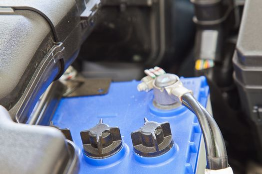 Battery, component of car engine