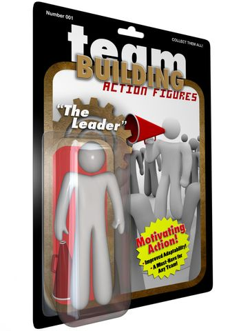 Leader Action Figure Person - Team Building for Success