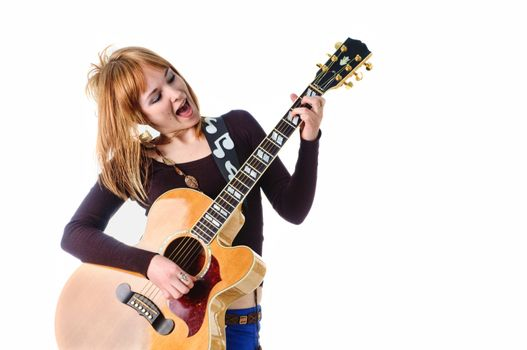 Rocker with acoustic guitar