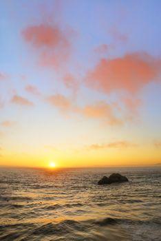 Sunsert at Ocean Beach in San Francisco
