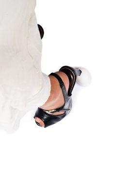High heels over egg