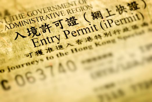 entry permit of Hong Kong
