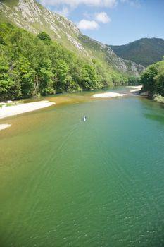 canoeing river Sella