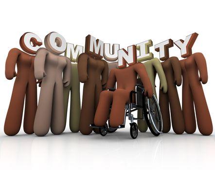 Community - Diverse People Form Society Bonds