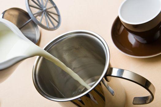 Making the cappuccino foam
