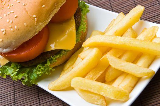 Delicious beefburger