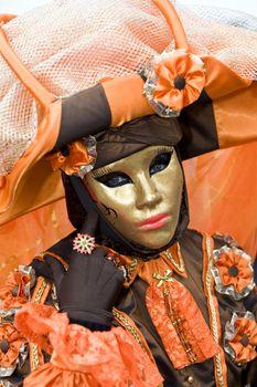 Flower lady in orange