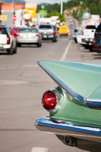 Tail fin on Route 66