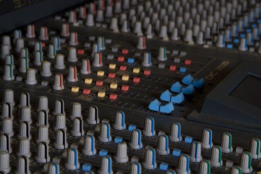 Mixer in studio