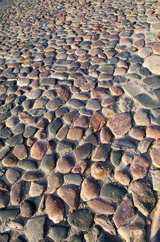 Cobblestone pavement