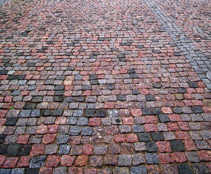 Old cobblestone pavement horizontal