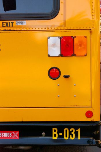 Yellow School Bus Bumper and Tail LIghts