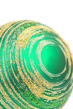green glass christmas ball