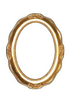 Oval goldframe
