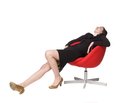 Lazy woman in a chair
