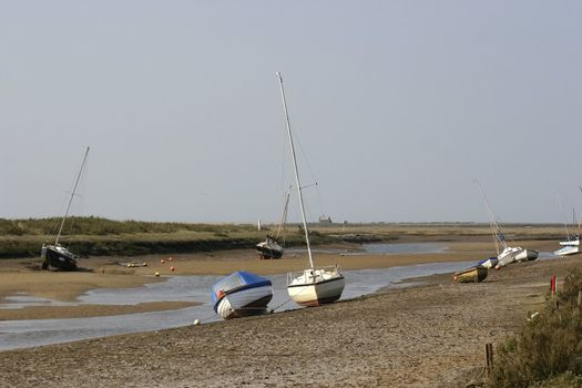 boats awaiting the tide