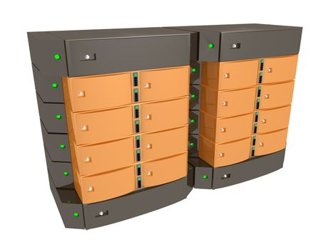 Dual Server - Orange