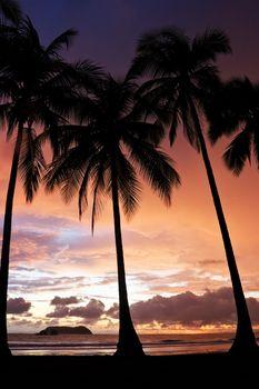 Sunset at Manuel Antonio Beach, Costa Rica.