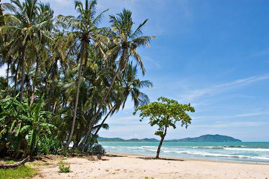 View over Tamarindo beach, Costa Rica Pacific Coast.