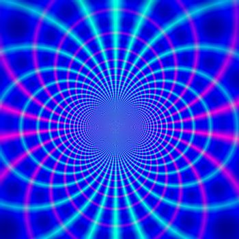 blue background illustration on form of a magnetic field