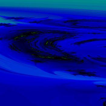fractal illustration of moving water