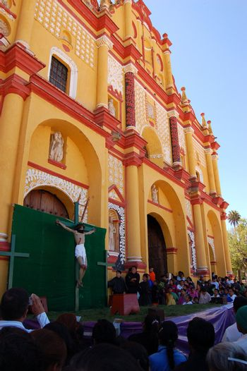Holy Week ceremonies in Chiapas, Mexico