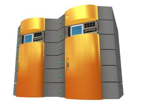 Computer generated image - Orange 3D Server.