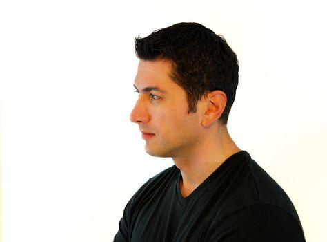 Pensive Man Profile