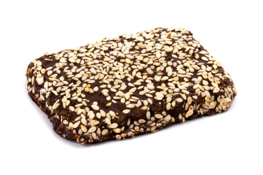 chocolate cookie with sesame