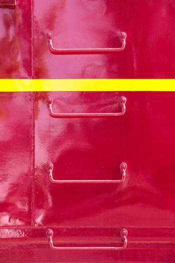 Metal ladder on Side of Train Caboose