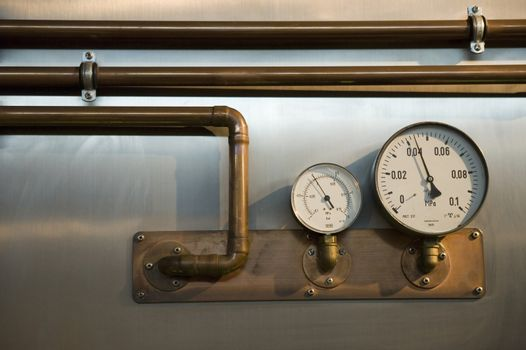 two metres with pipes