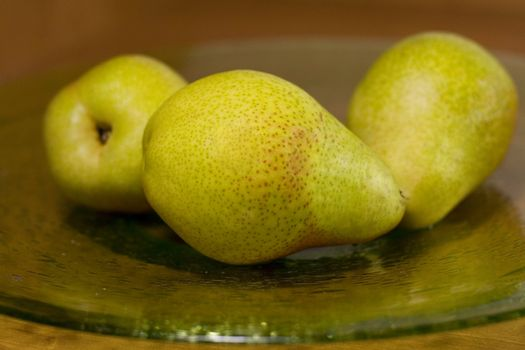 tree pears on a plate