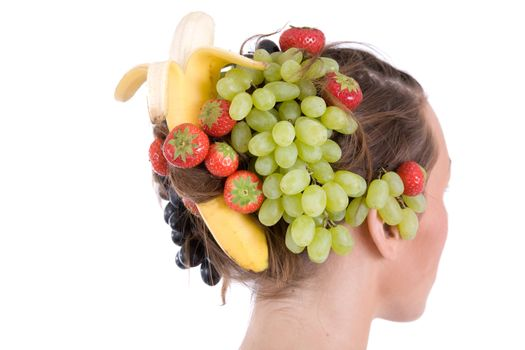 Fruity hairstyle