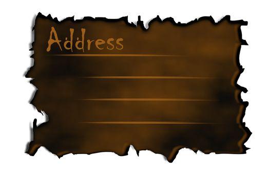 Burnt Address Lable