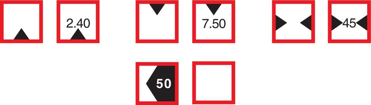 Waterway Signs, Restrictive