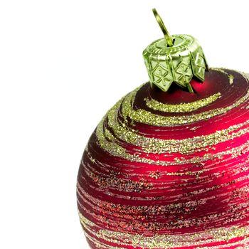 red glass christmas ball