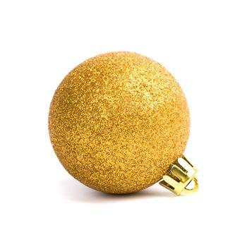 golden glass christmas ball