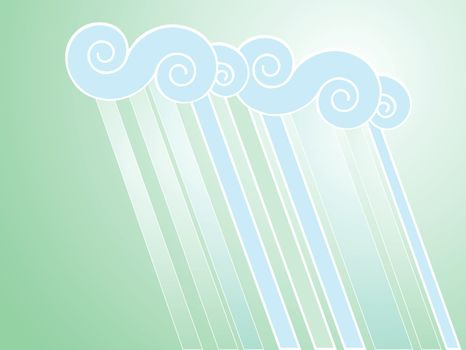 Softly colored desktop background with rain patterns.
