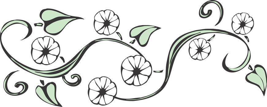 A simplified design of a vine evoking Algonquin patterning.