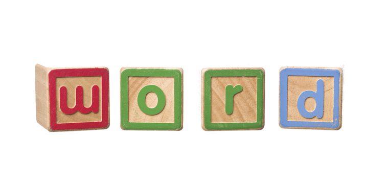 Word built by Play Blocks