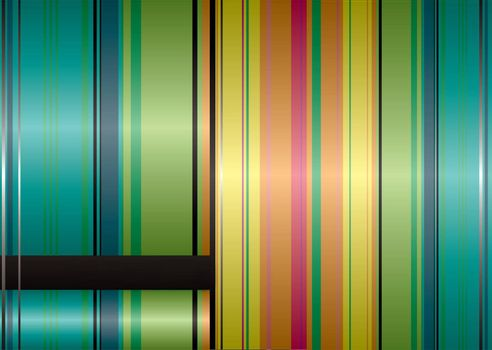 Natural autumn ribbon background with rainbow stripes and copyspace