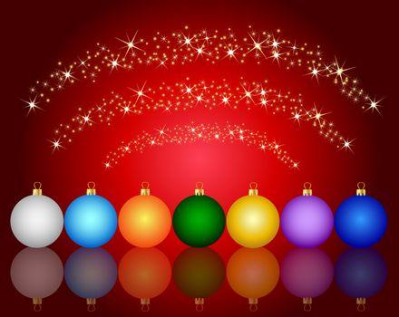 colorful christmas ball background