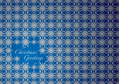 silver and blue snowflake christmas background with copyspace
