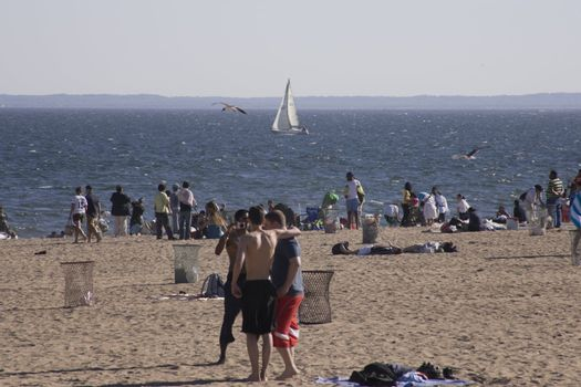 The first real summer weather in New York during 2008.